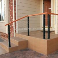 Buy cheap Stainless Steel Wire Decking Balustrade with Oak Wood Top Handrail from wholesalers