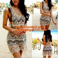 China backless Loose Embroidery dress white Blouses tassel Floral Lace Crochet Dresses Retro on sale