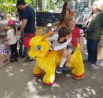 Buy cheap Hansel Motorized Plush Riding Animals 4 Wheels Bicycle animal car from wholesalers