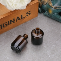 Buy cheap Amber 15ML Empty Glass Nail Polish Bottles With Brush And Cap from wholesalers