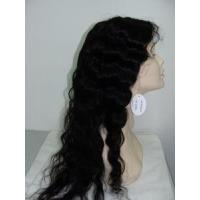 Buy cheap Stock Full Lace Wig 22 with Indian Remy Hair Body Wave(offer free wig glue and remover) from wholesalers