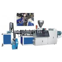 Buy cheap TSK75 PE PP Caco3 Parallel twin screw extruder hot cutting pelletizing line product