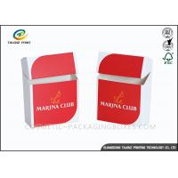 Buy cheap Promotional Logo Print Cigarette Case Custom Cigarette Box Folding Paper Box from wholesalers