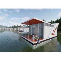 Buy cheap Large Balcony White Luxury Prefab House Above Water Prefab Floating Chalet from wholesalers
