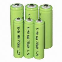 Buy cheap AAA NiMH Batteries for Cordless Phones, Walkman, Solar lighting and Electrical Drills from wholesalers