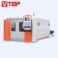 Buy cheap 4000w Full Closed Pallet Table CNC Fiber Laser Metal Sheet Cutting Machine from wholesalers