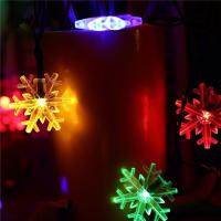 Buy cheap Snowflake Decorative String Lights , Warm Color Solar Led Christmas Tree Light from wholesalers