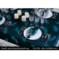 China 5 Star Hotel Linen Luxury Embroidered Round Wedding Table Cloth on sale