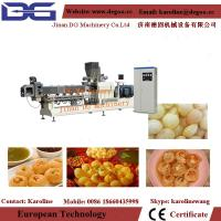 China Automatic Panipuri / Golgappa Fryum snacks pallet pellet food extruder machine processing line on sale