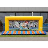 China CE/EN15649 Customized Inflatable Football Goal With 5 Years Or Above Lifespan on sale