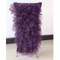 Buy cheap chair cap with organza ruffle from wholesalers