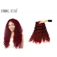 Buy cheap Red Water Wave Bulk Human Hair Bundles 3 Pieces #99J Clip In Small Curly Well from wholesalers
