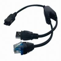 Buy cheap Qualitied RJ45 x USB to SAM Connector Bridge Data Cable for Mobile Phones, Indicator LED from wholesalers