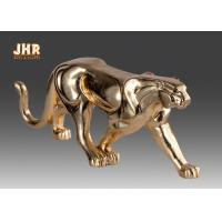 China Gold Foil Polyresin Animal Figurines Indoor Decor on sale