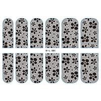Buy cheap H*L001 Metal Lace Nail Sticker Nail Art Decals Decoration from wholesalers