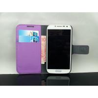 Buy cheap Samsung Galaxy S4 Purple Wallet Flip Leather Case from wholesalers