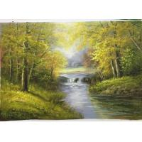 Buy cheap Handmade Oil Painting Unframed Hand Made Painted Forest Landscape Pattern Canvas Green Color house decoration from wholesalers
