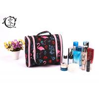 Buy cheap Large Size Portable Makeup Bag , Waterproof Canvas Travel Pink Crane Lady Cosmetic Bag from wholesalers
