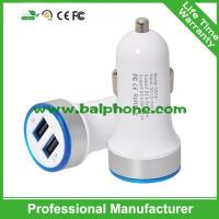 Buy cheap Most popular products round plug 3.1A double mini usb car charger from wholesalers