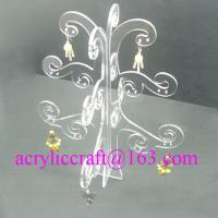 Buy cheap Elegant Transparent Tree Shape Acrylic Display Rack For Earring from wholesalers