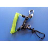 Buy cheap 4.0mm Diving Steel Coil Safety Tool Lanyards With Metal Clips Belt from wholesalers