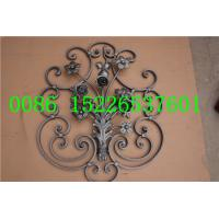 Buy cheap H730*W610 MM Wrought Iron Balustrades,  16*8MM Flat iron Fence And Railing Panels from wholesalers