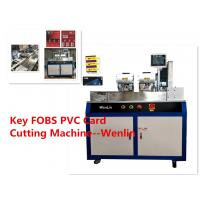 Buy cheap TK4100 ID PLC Servo Automatic Card Punching Machine Small Visa PVC Card Cutter from wholesalers