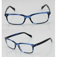 Buy cheap Fashion Acetate Mens Eyeglasses Frames, Blue Handmade Acetate Eyewear Frames product