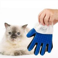 Buy cheap Dog Cat Customized Bathing Efficient Hair Romoval Massage Tool Silicone Glove Mitt from wholesalers