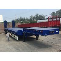 Buy cheap Low Bed Semi Truck Trailer 3 Axles 80T Loading Construction Machine / Heavy Equipment from wholesalers