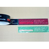 Buy cheap Perforation Line Tamper Proof Shipping Tape , Tamper Indicating Tape With Unique Serial Numbers from wholesalers