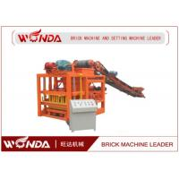 Buy cheap Semi Automatic Hydraulic Fly Ash Brick Making Machine Hollow Paving Slab Cinder Block Maker from wholesalers