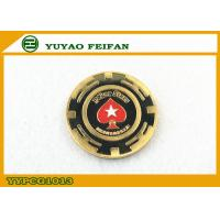 Buy cheap Red Heart Star Metal Poker Chips Engrave Custom Logo Casion Using from wholesalers