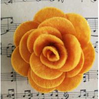 Buy cheap Lovely Felt Fabric Craft Flowers Gorgeous Thanksgiving Festival Use from wholesalers