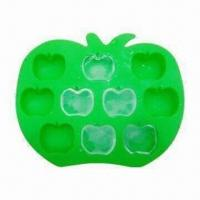 Buy cheap Silicon Apple Ice Tray, Made of High-quality Silicone, FDA and LFGB Approved, OEM Designs Welcomed product