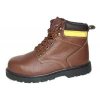 High Ankle Leather Comfortable Steel Toe Shoes  , 43'' Size Industrial Work Shoes
