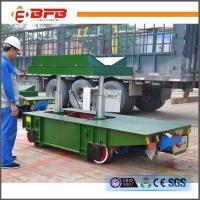 Buy cheap V-deck Frame Coil Rail Flat Cart With Hydraulic Lifting China factory from wholesalers