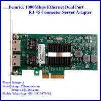 Buy cheap 1000Mbps Dual Port Server Ethernet Network Card, RJ-45 Copper Connector Femrice 10002PT from wholesalers