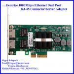 Buy cheap 1000Mbps Dual Port Server Ethernet Network Card, RJ-45 Copper Connector Femrice 10002PT from wholesalers