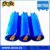 China 3.6v lithium battery ER17505 3500mAh with two pins on sale