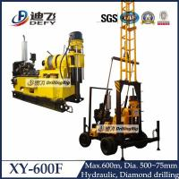 Buy cheap 600m depth engineering water well drilling rig machine XY-600F with mud pump from wholesalers