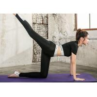 Buy cheap Summer Sexy Fashion Yoga Sportswear Suits Quick Dry Black / White Color For Gym product