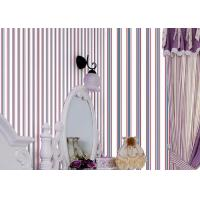Buy cheap Mediterranean Modern Removable Wallpaper,Blue And Red Striped Wallpaper 0.53*10M from wholesalers