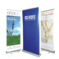 Buy cheap Waterproof Roll Up Banner Display Dye Sublimation Full Color Printing Reusable from wholesalers