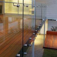 Buy cheap Easty Installing Good Price Standoff bracket frameless tempered glass railing product