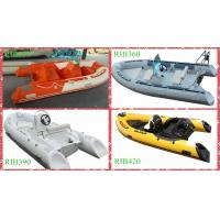 Buy cheap RIB 420 Alibaba Supplier Hypalon Inflatable Fiberglass Fishing Rigid Boat With Outboard Motor from wholesalers