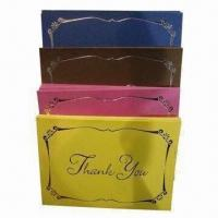 Buy cheap Thank You Card, Customized Sizes and Requirements are Welcome from wholesalers