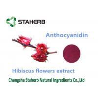 Buy cheap Hibiscus flower extract Natural Cosmetic Ingredients anthocyanidin 10% powder from wholesalers