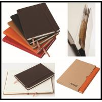 Buy cheap hot sale leather cover Cheap Custom Notebook/school exercise books/diary from wholesalers