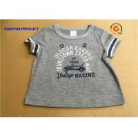 Buy cheap Overall Size Baby Boy Short Sleeve T Shirt , Heather Gray Kids Short Sleeve Tops from wholesalers